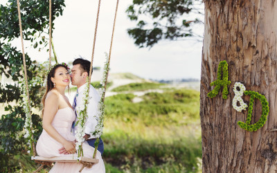 Dreamy Rope Swing Engagement Photo Session