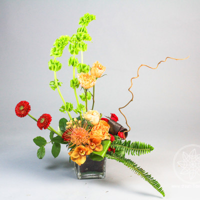 Arrangement  of flowers Orange Etic